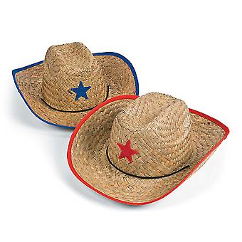 Straw Sheriff or Cowboy Party Hats for Kids | Kids Birthday Party Hats