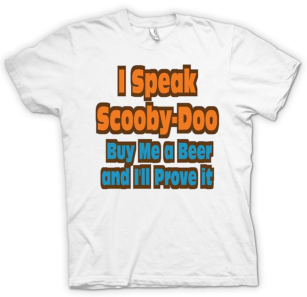 Womens T-shirt - I Speak Scooby Doo