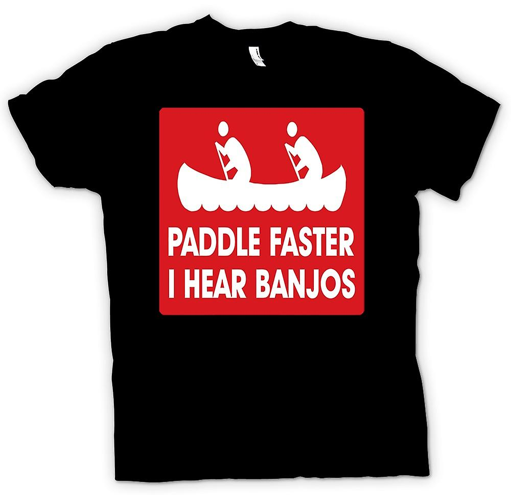 Kids T-shirt - Paddle Faster I Hear Banjos - Quote
