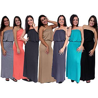 Waist Slimming Tube Top Maxi Dress MADE IN USA S, M, L, XL