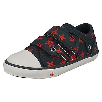 Childrens Boys/Girls Startrite Casual Shoes Zip - Navy Canvas - UK Size 1F - EU Size 33 - US Size 2