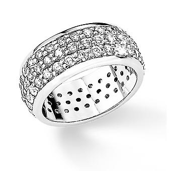 s.Oliver jewel ladies ring silver cubic zirconia white Gr. 54 SO573 - 9780471