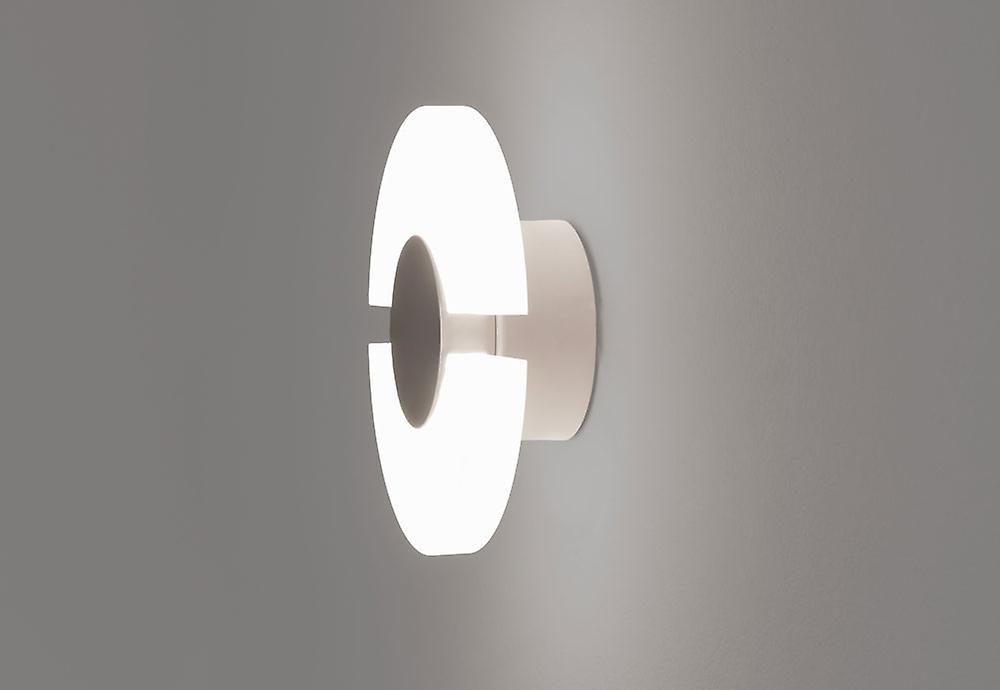 Led wall lamp Ledri Half & Half como 16cm 6W 3000K Alu matt-white 10703