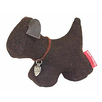 Brown Felt Dog Paperweight by Monica Richards