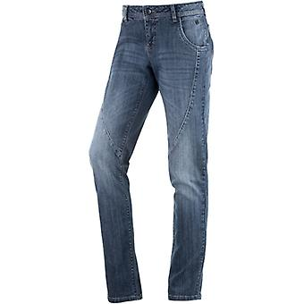 Skinny women's jeans biker look denim NEIGHBORHOOD blue