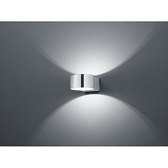 Trio Lighting Lacapo Modern Nickel Matt Metal Wall Lamp