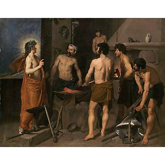 The Forge of Vulcan, Diego Velazquez, 50x40cm