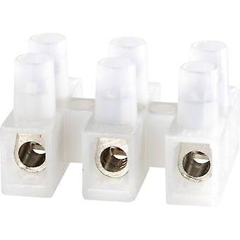 Adels-Contact 125303 Screw terminal flexible: -6 mm² rigid: -6 mm² Number of pins: 3 1 pc(s) Ecru
