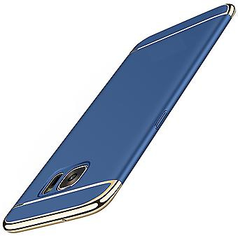 Cell phone cover case for Samsung Galaxy A3 2017 bumper 3 in 1 cover blue