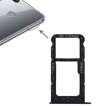 For Huawei ære 9 Lite kort stoppet SIM brett skyve holderen svart erstatning nye