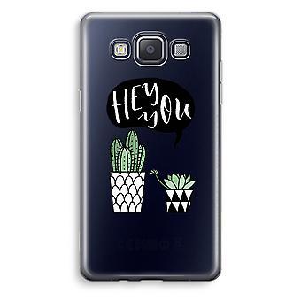 Samsung Galaxy A3 (2015) transparente Fall (weich) - Hey du Kaktus