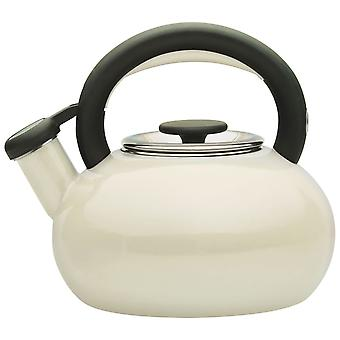 Prestige 46246 Whistling Porcelain Enamel 1.4L Stove Top Kettle - Almond
