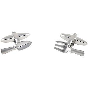David Van Hagen Trowel and Fork Cufflinks - Silver