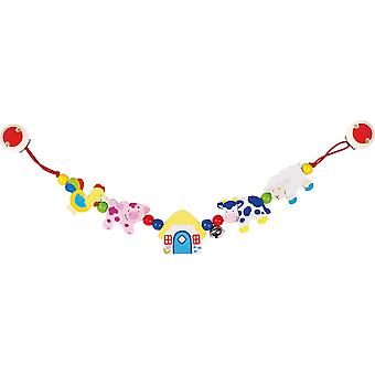 Heimess Pram Chain Farm Animals With Clips