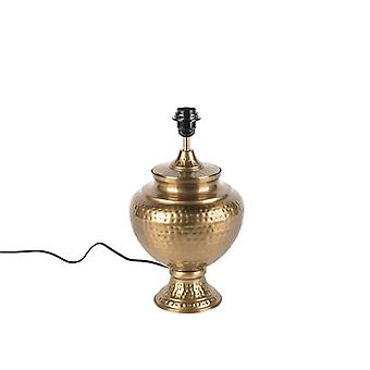 QAZQA Vintage Table Lamp Gold without Shade - Hazard A
