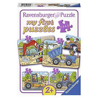 3 x 24 Teile Puzzle Spiel Deutsch 2017 Bunte Welt der Fahrzeuge Puzzles