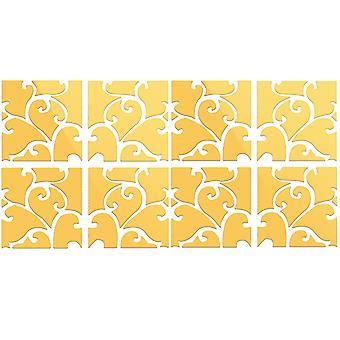 TRIXES 8PC 3D-Effekt wirbelte Muster Ideal Home Dekoration Gold