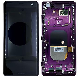 Sony дисплей LCD полный блок с рамкой для 1315-5029 Xperia XZ3 H8416 H9436 H9493 красный / Бордо красный запчасти новые
