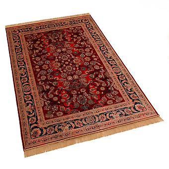 Large Red Afghan Ziegler Artificial Faux Silk Effect Rugs 5663/12 160 x 230cm