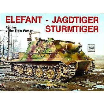 Elefant - Jagtiger - Sturmtiger - odmiany rodziny Tiger przez Wo