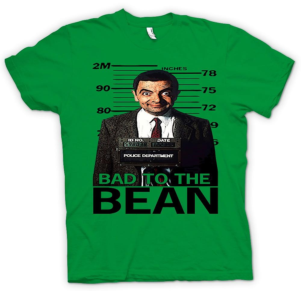 Mens T-shirt - Mr Bean Bad Till Bean Mugg Shot - Komedi