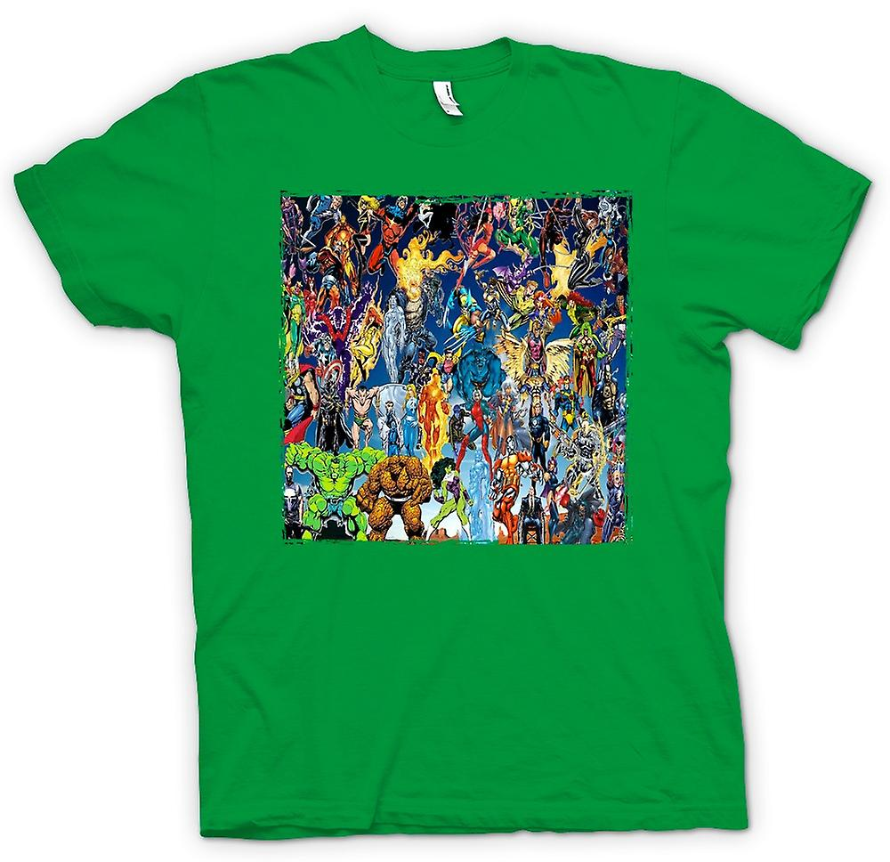 Mens t-shirt - Marvel Comic Super eroe - Collage