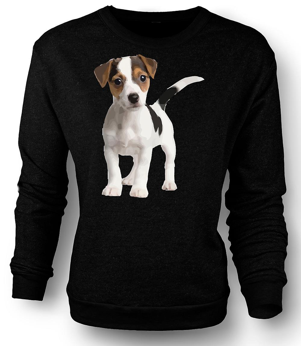 Mens Sweatshirt Jack Russell Terrier Puppy - Cute
