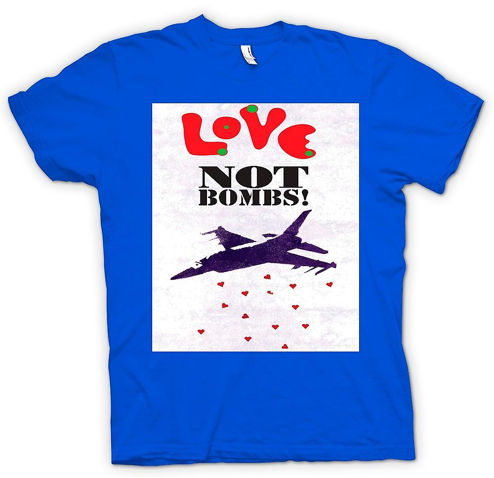 Mens T-shirt - Love Not Bombs - Peace