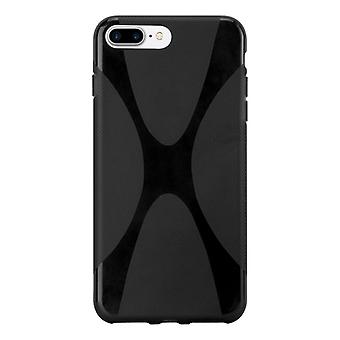 Cadorabo case for Apple iPhone 8 PLUS / iPhone 7 PLUS / iPhone 7S PLUS - mobile cover flexible TPU silicone X-line design - silicone case cover soft back cover case bumper