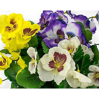 Large Fabric Pansy Spray for Spring or Easter Crafts