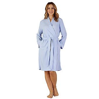 Slenderella HC3300 Women's Woven Dressing Gown Loungewear Bath Robe Kimono