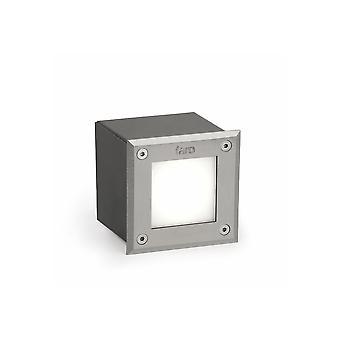 Faro - lett-18 Matt Nickel Square LED infällda utomhus ljus 3000K FARO71499N