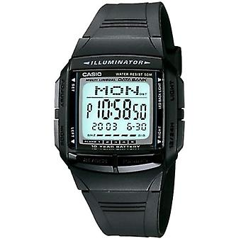 Casio digital watch quartz women's watch with black resin strap DB-36-1AVEF