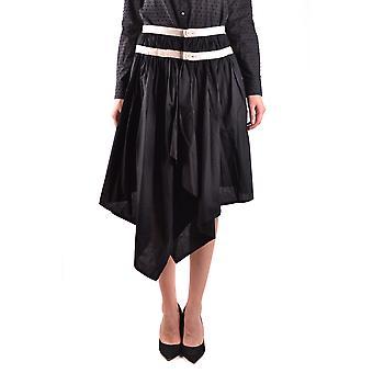 Falda de algodón negro de Yohji Yamamoto