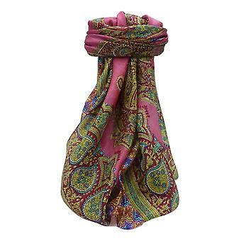 Mora rosa de Obi de seda bufanda cuadrada tradicional por Pashmina y seda
