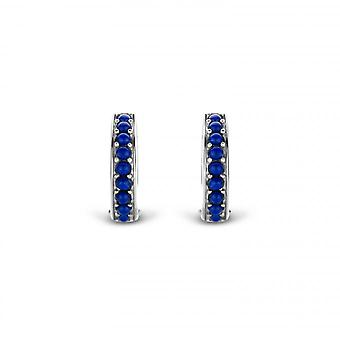 Buckles of ears Ti Sento Poolside reflections 7764BL - loops of ear rings silver stone Indigo