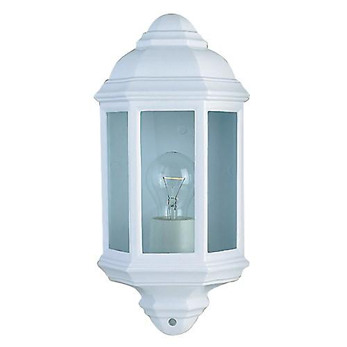 Searchlight 280WH Traditional Outdoor Half Round Wall Light Lantern. Cast Aluminium