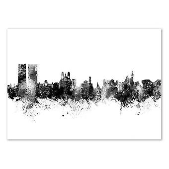 Konst-affisch-Marseille Frankrike skyline-Michael Tompsett 50 x 70 cm