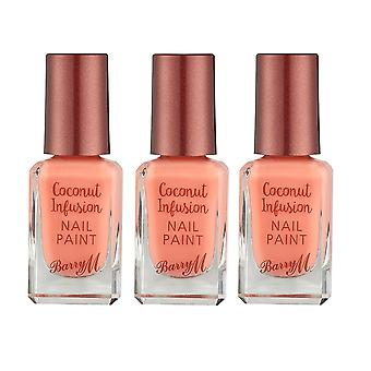 Barry M 3 X Barry M Coconut Infusion Nail Paint - Flamingo