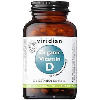 Viridian organiska vitamin D2 (vegan) 400iu veg CAPS 60 (267)