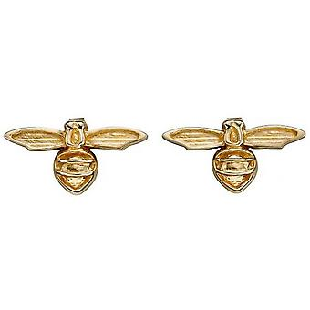 Elements Gold Bee Stud Earrings - Gold