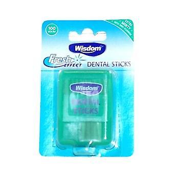Sabiduría efecto fresco palillos dentales