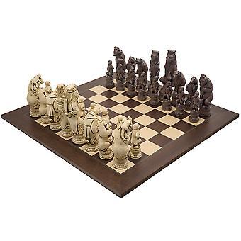 The Berkeley Chess Reynard the Fox Russet and Palisander Grand Chess Set