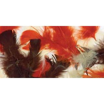 Plumes de Turquie Plumage.5 oz assorties Earthtones B710 Ae