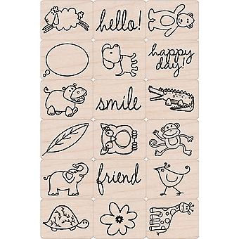Hero Arts Ink ' n Stamp Tub animaux heureux Lp1699 Lp136
