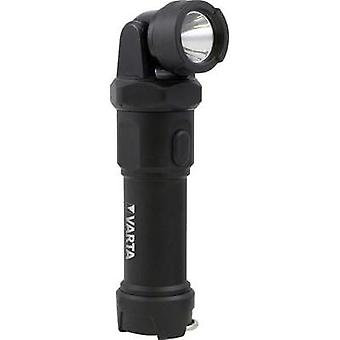 LED Torch Varta Indestructible Swivel Light battery-powered Black