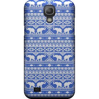 Tuer la couverture Tribal Blue Elephant pour mini Galaxy S4
