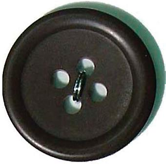 Slimline Buttons Series 1-Black 4-Hole 3/8