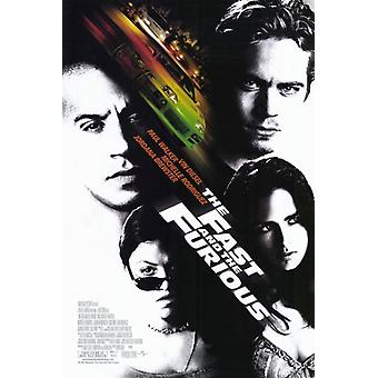 The Fast and Furious film Poster (11x17)