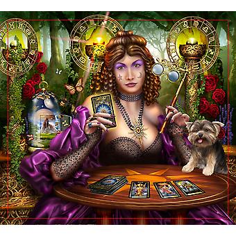 Reading The Gilded Tarot Poster Print by Ciro Marchetti